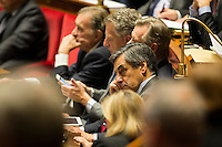 Francois Fillon, member of Les Republicains political party and 2017 presidential candidate of the French centre-right at the National Assembly in Paris, France, December 13, 2016. # BERNARD CAZENEUVE PRONONCE SON DISCOURS DE POLITIQUE GENERALE