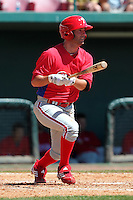 Philadelphia Phillies Cory Sullivan #18 during an exhibition game vs the Netherlands National Team  at Al Lang Field in St. Petersburg, Florida;  March 13, 2011.  Photo By Mike Janes/Four Seam Images