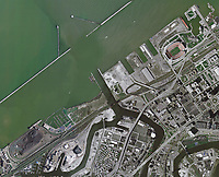 aerial photo map of the Port of Cleveland, Ohio