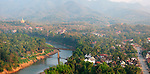 Panoramic View from That Phousi Mountain,  Luang Prabang, Laos