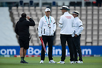 The umpires consult about the light during India vs New Zealand, ICC World Test Championship Final Cricket at The Hampshire Bowl on 19th June 2021