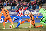 Yannick Ferreira Carrasco (l) of Atletico de Madrid competes for the ball with Alejandro Galvez Jimena of SD Eibar during their Copa del Rey 2016-17 Quarter-final match between Atletico de Madrid and SD Eibar at the Vicente Calderón Stadium on 19 January 2017 in Madrid, Spain. Photo by Diego Gonzalez Souto / Power Sport Images