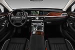 Stock photo of straight dashboard view of 2018 Genesis G90 Ultimate 4 Door Sedan Dashboard