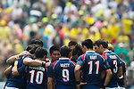 Hong Kong play South Africa on Day 2 of the 2011 Cathay Pacific / Credit Suisse Hong Kong Rugby Sevens, Hong Kong Stadium. Photo by Victor Fraile / The Power of Sport Images