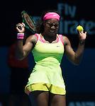 Serena Williams (USA) defeats Vera Zvonareva (RUS) 7-5, 6-0