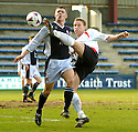 19/03/2005         Copyright Pic : James Stewart.File Name : jspa14_raith_v_falkirk.DANIEL MCBREEN SHOOTS AS NEIL JABLONSKI CHALLENGES....Payments to :.James Stewart Photo Agency 19 Carronlea Drive, Falkirk. FK2 8DN      Vat Reg No. 607 6932 25.Office     : +44 (0)1324 570906     .Mobile   : +44 (0)7721 416997.Fax         : +44 (0)1324 570906.E-mail  :  jim@jspa.co.uk.If you require further information then contact Jim Stewart on any of the numbers above.........A