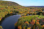 Aerial view of Camden, Maine