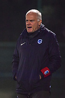 Genk's head coach Guido Brepoels pictured during a female soccer game between  Racing Genk Ladies and Oud Heverlee Leuven on the fourth matchday of the 2020 - 2021 season of Belgian Scooore Womens Super League , friday 9 th of October 2020  in Genk , Belgium . PHOTO SPORTPIX.BE | SPP | STIJN AUDOOREN