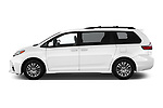 Car driver side profile view of a 2020 Toyota Sienna XLE 5 Door Mini Van