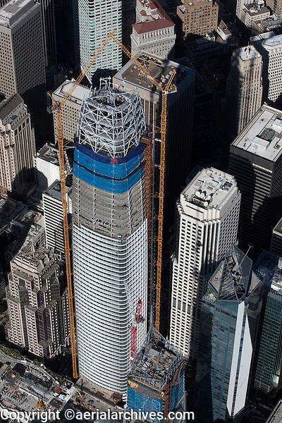 aerial photograph Salesforce Tower under construction, San Francisco, California