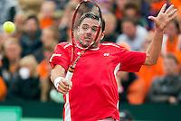 14-09-12, Netherlands, Amsterdam, Tennis, Daviscup Netherlands-Suiss,   Stanislas Wawrinka
