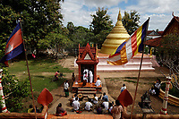 100 Columns Pagoda,<br />  near Kratie, Cambodia,<br /> during water festival<br /> October 2020.
