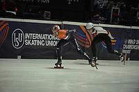 SPEEDSKATING: DORDRECHT: 05-03-2021, ISU World Short Track Speedskating Championships, Heats 500m Men, Itzhak de Laat (NED), ©photo Martin de Jong