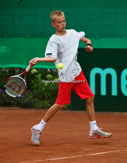 07-08-13, Netherlands, Rotterdam,  TV Victoria, Tennis, NJK 2013, National Junior Tennis Championships 2013, Mike Diks   <br /> <br /> <br /> Photo: Henk Koster