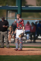 Luke Haas (14) of Glenda Dawson High School in Pearland, Texas during the Baseball Factory All-America Pre-Season Tournament, powered by Under Armour, on January 13, 2018 at Sloan Park Complex in Mesa, Arizona.  (Mike Janes/Four Seam Images)