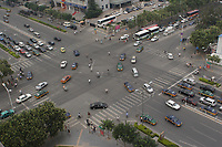 Beijing ,China- 2007 File Photo -<br /> <br /> Cars at a crossing in Beijing ,China<br /> <br /> <br /> <br /> photo : James Wong-  Images Distribution