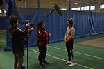 NOVEMBER 15, 2018: MONTREAL, QC, Chantal Beauchesne gives an interview at Paratough Cup.