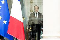 PARIS PALAIS DE L ELYSEE LE 01 / 02 / 2017<br /> FRANCOIS HOLLANDE A L ISSUE DU CONSEIL DES MINISTRES .