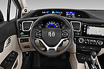 Car pictures of steering wheel view of a 2015 Honda Civic Sedan NGV 2 Door  Steering Wheel