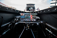 Sep 6, 2020; Clermont, Indiana, United States; Detailed view of a photo of NBA player Michael Jordan in the cockpit of the dragster of NHRA top fuel driver Steve Torrence during the US Nationals at Lucas Oil Raceway. Mandatory Credit: Mark J. Rebilas-USA TODAY Sports