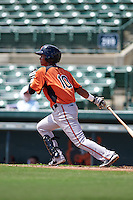 Baltimore Orioles Ricardo Andujar (10) during an instructional league game against the Minnesota Twins on September 22, 2015 at Ed Smith Stadium in Sarasota, Florida.  (Mike Janes/Four Seam Images)