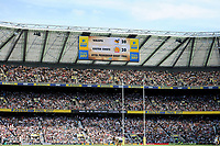 The score of 20-20 at the end of normal time on the scoreboard during the Premiership Rugby Final at Twickenham Stadium on Saturday 27th May 2017 (Photo by Rob Munro)