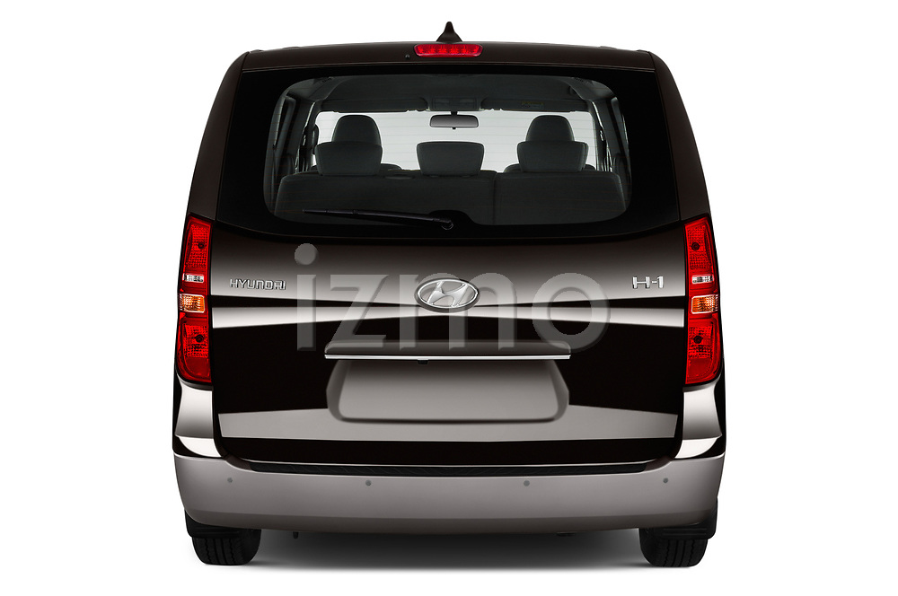 Straight rear view of a 2019 Hyundai H1-People Executive 5 Door Mini Van stock images