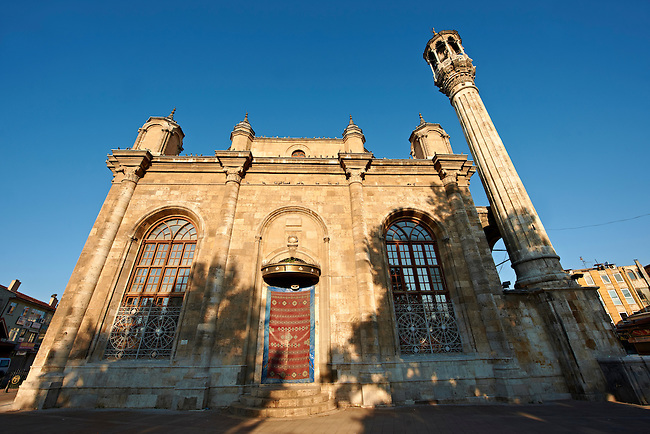 Aziziye Camii (Mosque) with oriental style minarets and windows that are larger than the doors. Konya, Turkey