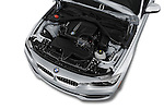 Car Stock 2017 BMW 3-Series 330i 4 Door Sedan Engine  high angle detail view
