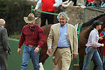 HOT SPRINGS, AR - FEBRUARY 20: Horse trainer Donnie K Von Hemel (left) and Steven Asmussen (right) before the running of the running of the Southwest Stakes at Oaklawn Park on February 20, 2017 in Hot Springs, Arkansas. (Photo by Justin Manning/Eclipse Sportswire/Getty Images)