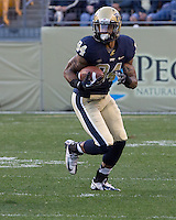 Pitt wide receiver Ed Tinker. The Pitt Panthers defeated the Gardner-Webb Runnin Bulldogs 55-10 at Heinz Field, Pittsburgh PA on September 22, 2012..