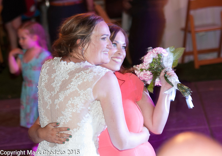 Lauren with her bridesmaid who caught the bouquet.