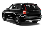 Car pictures of rear three quarter view of 2020 Volvo XC90 Momentum 5 Door SUV Angular Rear
