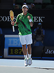 anuary 25, 2010T\.Fernando Verdasco, celebrates after winning ther forth set during his 6-2, 7-5, 4-6, 6-7, 6-3 loss to Nikolay Davydenko of Russia, in the fourth round of The Australian Open, Melbourne Park, Melbourne, Australia.