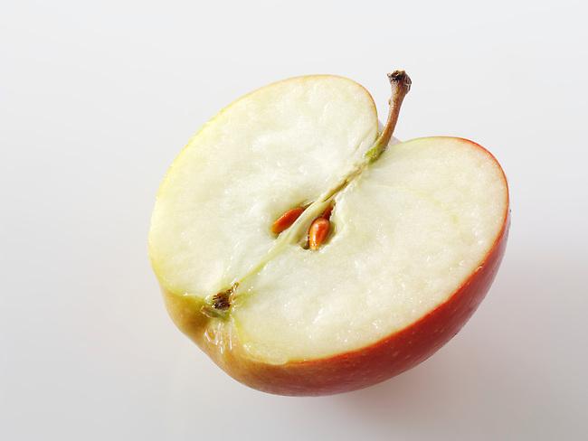 Fresh Braeburn Apple half