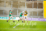Abbeydorney's David Egan attempts to get past Crotta's Paraic Shanahan as team mate Sean Weir looks on in the round 2 game of the County Senior hurling championship