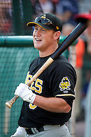 Salt Lake Bees outfielder Kole Calhoun #9 during practice before the Triple-A All-Star game featuring the Pacific Coast League and International League top players at Coca-Cola Field on July 11, 2012 in Buffalo, New York.  PCL defeated the IL 3-0.  (Mike Janes/Four Seam Images)