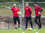 St Johnstone Training…22.09.17<br />Keeper Alan Mannus pictured during training ahead of tomorrow's game against Hamilton with young keepers Ben McKenzie and Ross Sinclair<br />Picture by Graeme Hart.<br />Copyright Perthshire Picture Agency<br />Tel: 01738 623350  Mobile: 07990 594431