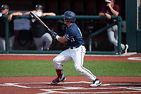 Will Wagner (17) of the Liberty Flames at bat against the Bellarmine Knights at Liberty Baseball Stadium on March 9, 2021 in Lynchburg, VA. (Brian Westerholt/Four Seam Images)