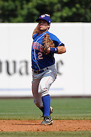Auburn Doubledays infielder Wes Schill (2) during game against the Staten Island Yankees at Richmond County Bank Ballpark at St.George on August 2, 2012 in Staten Island, NY.  Auburn defeated Staten Island 11-3.  Tomasso DeRosa/Four Seam Images