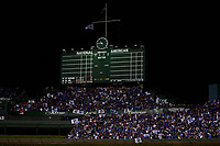 General view during Game 5 of the Major League Baseball World Series between the Cleveland Indians and Chicago Cubs on October 30, 2016 at Wrigley Field in Chicago, Illinois.  (Mike Janes/Four Seam Images)