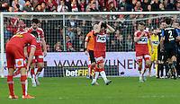 KV Kortrijk - Club Brugge : ontgoocheling bij de Kortrijk-spelers na een tegendoelpunt <br /> Foto VDB / Bart Vandenbroucke