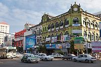 Myanmar, Burma, Yangon.  Pansodan Street.