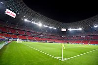 16th February 2021, Puskas Arena, Budapest, Hungary; Champions League football, FC Leipig versus Liverpool FC;  Empty stadium due to the pandemic