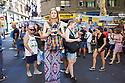 El Rastro Street Flea Market on a Sunday in Madrid Spain