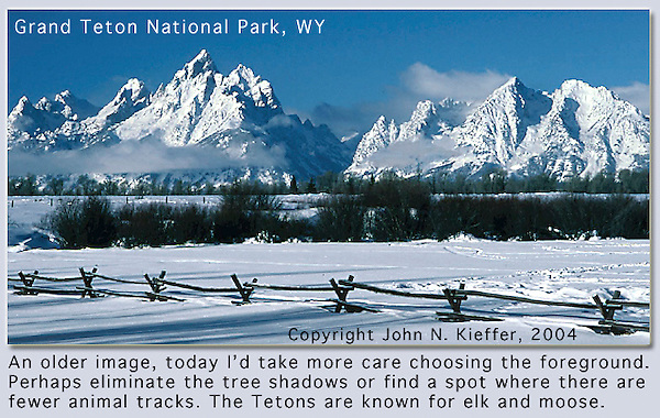 Winter in Grand Teton National Park, Wyoming. John leads private, photo tours throughout Colorado, including Denver and Boulder.