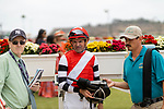 JULY 24, 2021: Kent Desormeaux after a race at the Del Mar Fairgrounds in Del Mar, California on July 24, 2021. Evers/Eclipse Sportswire/CSM