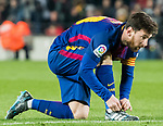 Lionel Andres Messi of FC Barcelona reacts during the La Liga 2017-18 match between FC Barcelona and Girona FC at Camp Nou on 24 February 2018 in Barcelona, Spain. Photo by Vicens Gimenez / Power Sport Images