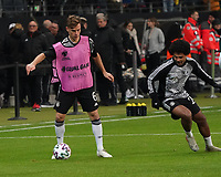 Joshua Kimmich (Deutschland Germany), Serge Gnabry (Deutschland Germany) - 19.11.2019: Deutschland vs. Nordirland, Commerzbank Arena Frankfurt, EM-Qualifikation DISCLAIMER: DFB regulations prohibit any use of photographs as image sequences and/or quasi-video.