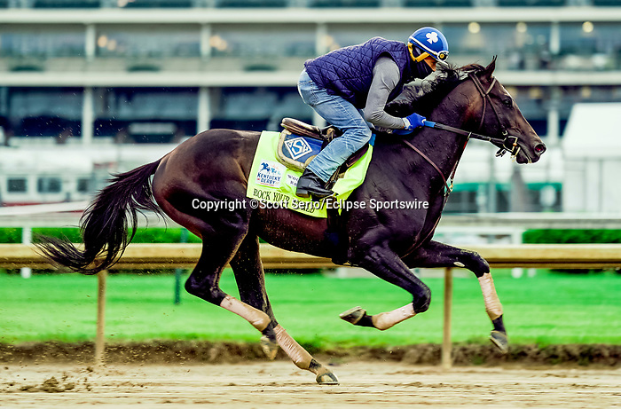 April 29, 2021: Rock Your World, trained by trainer John Sadler, exercises in preparation for the Kentucky Derby at Churchill Downs on April 29, 2021 in Louisville, Kentucky. Scott Serio/Eclipse Sportswire/CSM